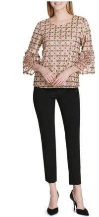 Calvin Klein Embroidered Bell-Sleeve Blouse - VendaStores