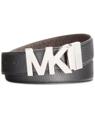 Michael Kors Reversible Plaque Belt BlackBrown Logo - VendaStores