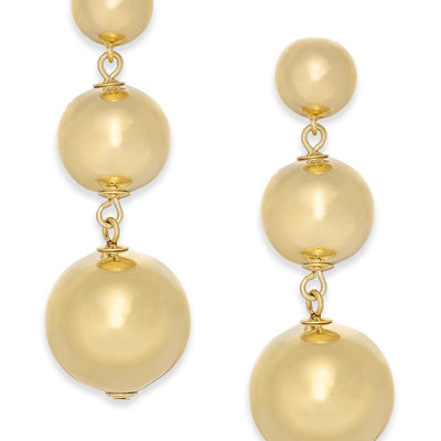 Kate Spade New York 14k Gold-Plated Graduated Bauble Drop Earrings - VendaStores