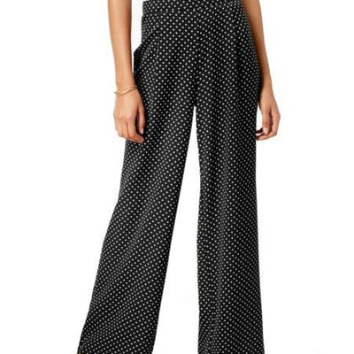 Ultra Flirt Juniors' Polka Dot Wide-Leg Pants - VendaStores