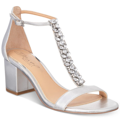 Jewel by Badgley Mischka Lindsey Block-Heel Evening Sandals - VendaStores