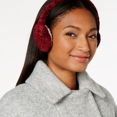 Charter Club Chenille Earmuffs Mulberry Spice - VendaStores