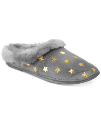 Charter Club Metallic Star Clog Slippers Grey XL - VendaStores