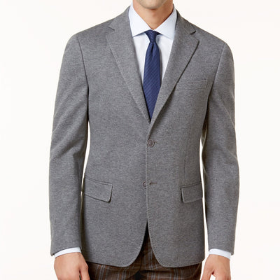Calvin Klein Men's Grey Size 38 Reg Slim-Fit Knit Jacket, MSRP C $450 - VendaStores