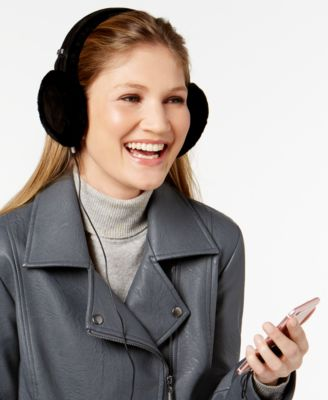 UGG Classic Wired Shearling Earmuff Black - One Size - VendaStores