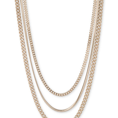 DKNY Gold-Tone Multi-Layer Necklace - VendaStores