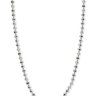 "Giani Bernini 30"" Beaded Chain Necklace in Sterling Silver - VendaStores"