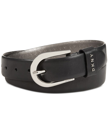 DKNY Belt With Metal Logo Letters RedSilver L