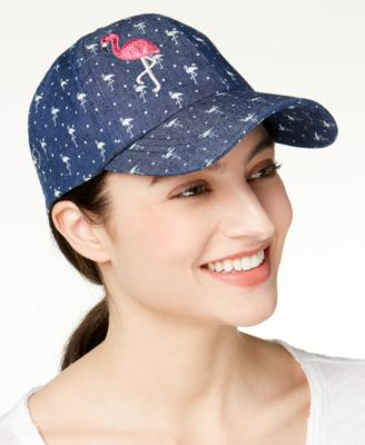 August Hats Flamingo Cotton Denim Baseball Denim ONE SIZE - VendaStores