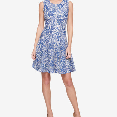 Tommy Hilfiger Denim Lace Sleeveless Fit & Flare Dress - VendaStores