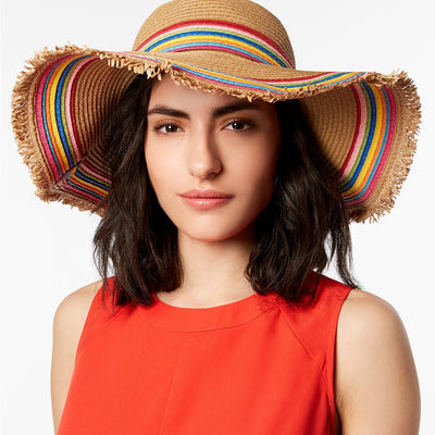 Betsey Johnson Rainbow Fringe Floppy Hat One Size - VendaStores