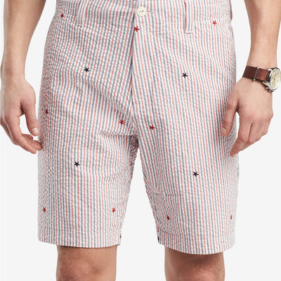 Tommy Hilfiger Men's Classic Fit Seersucker Stars & Stripes Shorts - 42 - VendaStores