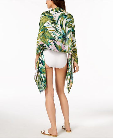 INC International Concepts Tropical Palms Cover-Up & Wrap One Size