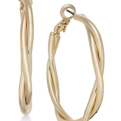 Charter Club Gold-Tone Double Twist Hoop Earrings - VendaStores