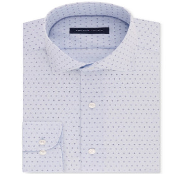 Tommy Hilfiger Men's Classic Fit Blue-Print Shirt