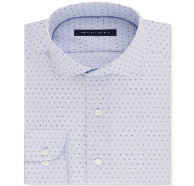 Tommy Hilfiger Men's Classic Fit Blue-Print Shirt - VendaStores