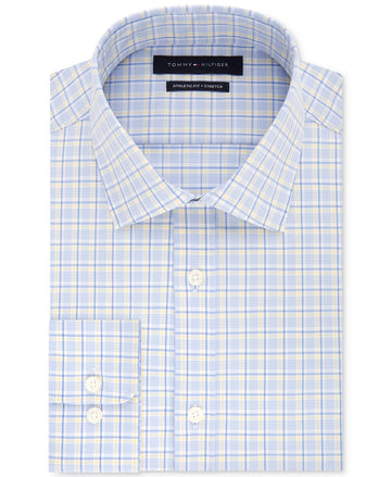 Tommy Hilfiger Men's Fitted Stretch Check