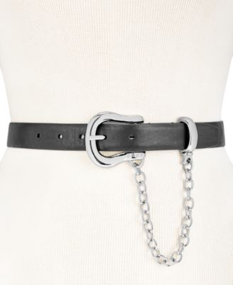 DKNY Chain Swag Belt BlackSilver - VendaStores