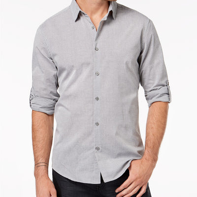 Alfani Men's Regular Fit Ottoman Textured Shirt