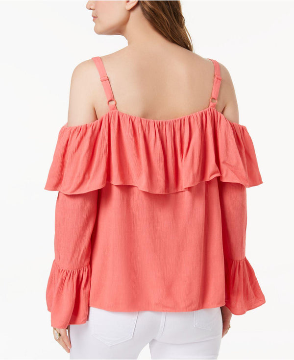 I.N.C. Petite Off-The-Shoulder Ruffle-Cuff Top - VendaStores