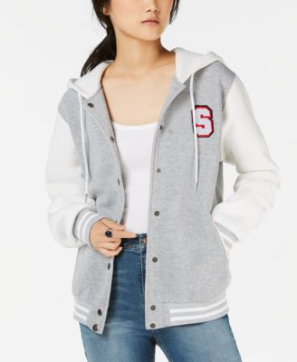 Say What? Knit Hoodie Letterman