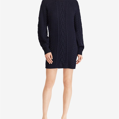 Polo Ralph Lauren Women's Aran-Knit Wool Sweater Dress - VendaStores