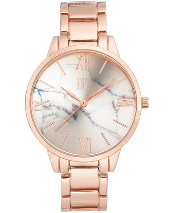 I.N.C. Women's Rose Gold-Tone Bracelet Watch 38mm
