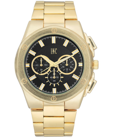 I.N.C. Men's Gold-Tone Bracelet Watch 44.5mm
