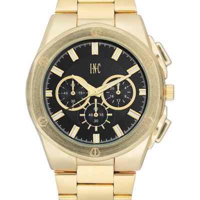 I.N.C. Men's Gold-Tone Bracelet Watch 44.5mm - VendaStores