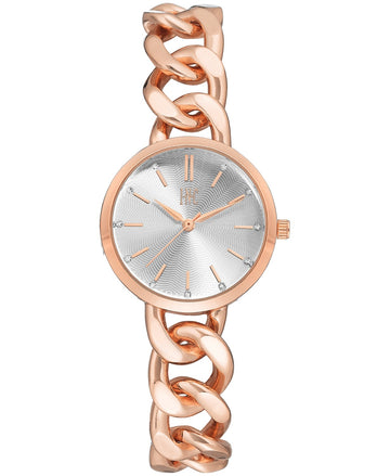 I.N.C. Women's Rose Gold-Tone Chain Bracelet Watch 30mm