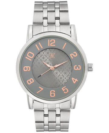 I.N.C. Men's Silver-Tone Link Bracelet Watch 42mm