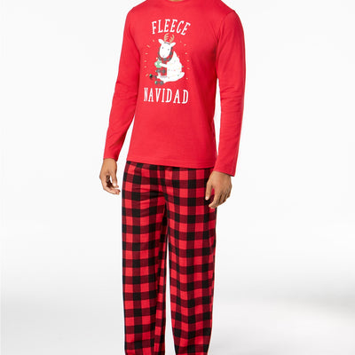 Family Pajamas Matching Men's Fleece Navidad Pajama Set - VendaStores