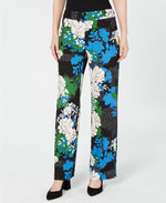 INC International Concepts Printed Wide-Leg Crêpe Pants - VendaStores