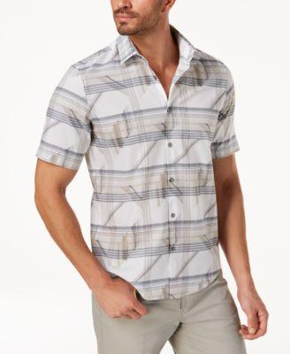 ALFANI Men's Grid-Print Shirt - VendaStores