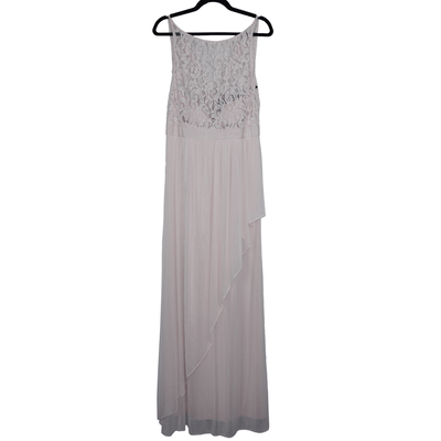 Adrianna Papell Lace Illusion Halter Gown - VendaStores