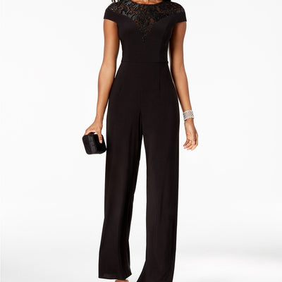 Adrianna Papell Sequined Jersey Jumpsuit