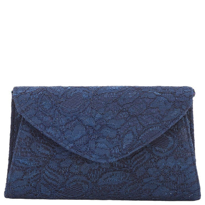 Adrianna Papell Envelope Clutch Seta Lace Beaded Strap Crossbody - VendaStores