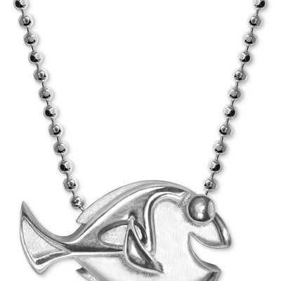 "Alex Woo Sterling Silver ""Finding Dory"" Dory Pendant Necklace - VendaStores"