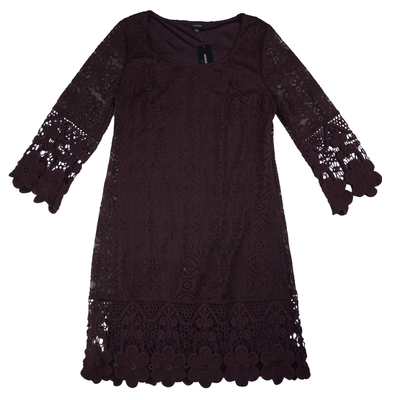 Alfani Crochet-Trim Illusion Dress - VendaStores