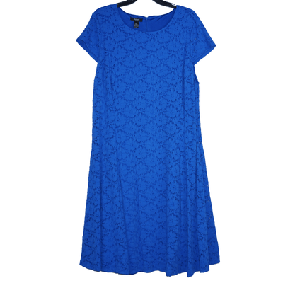 Alfani Plus Size 14W and 16W Lace Cap Sleeve Fit & Flare Dress - VendaStores