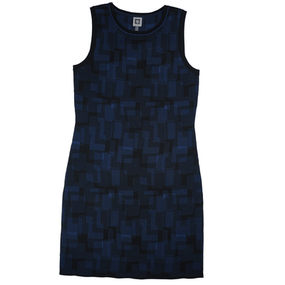 Anne Klein Printed Sweater Tank Dress - VendaStores