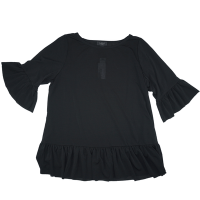 Belldini Black Label Plus Size Ruffle-Hem Tunic - VendaStores
