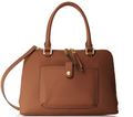 Calvin Klein Women's Blanche Pebble Leather Satchel