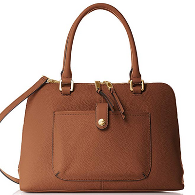 Calvin Klein Women's Blanche Pebble Leather Satchel - VendaStores