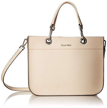Calvin Klein Sandra Leather Satchel Tote Bag