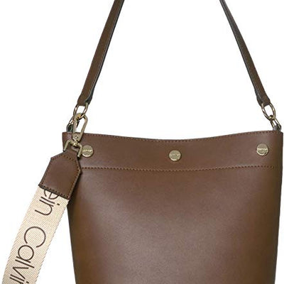 Calvin Klein Amber Novelty Crossbody in Brown - VendaStores
