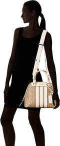 Calvin Klein Clara Monogram Dome Shoulder Bag in Sand
