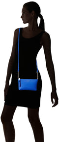 Calvin Klein Hayden Saffiano Leather Chain Crossbody | Blue