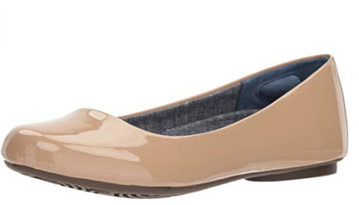 Dr. Scholl's Womens Really Sand Patent Ballet Flat 8.5 M (US) - VendaStores