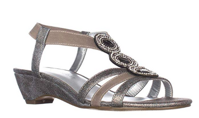 Karen Scott Women's Size 6.5 and 7 Dark Grey Casha  Sandal - VendaStores
